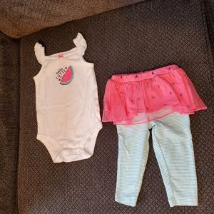 Brand new Carter's watermelon outfit